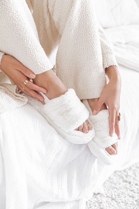 SOFT Blanc - Chaussons cocooning
