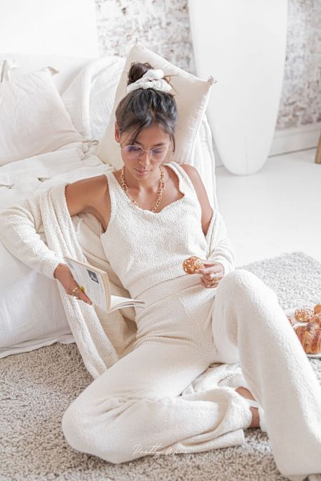 COMFY BEIGE - Ensemble top & pantalon cocooning