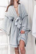 WABI Gris - Kimono en gaze de coton