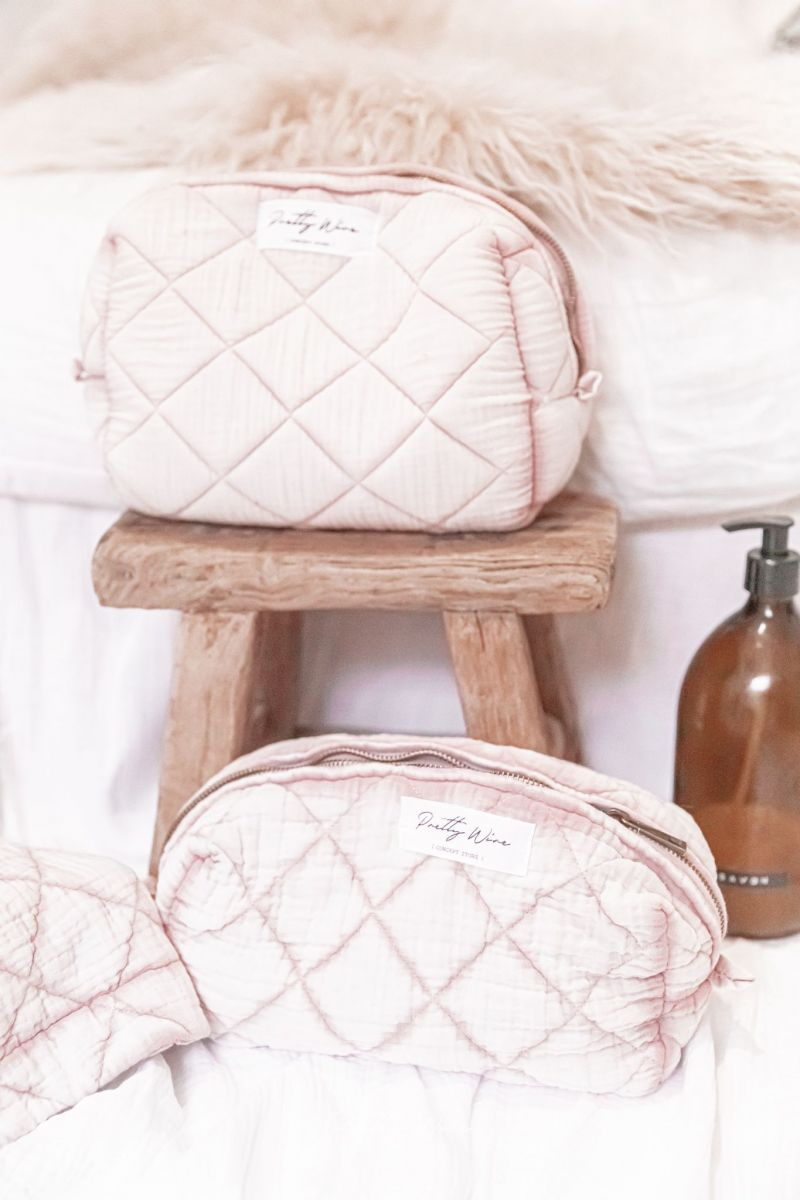 LOMA Rose - Trousse en gaze de coton