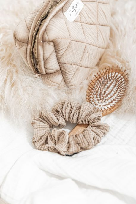SCRUNCHIE Sable - gaze de coton XL