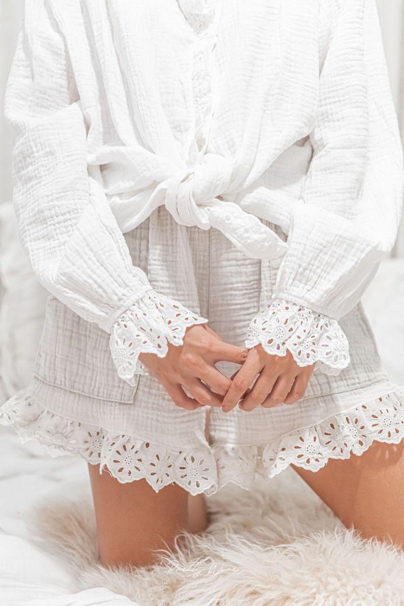 RÊVE Taupe - Pyjama en gaze de coton