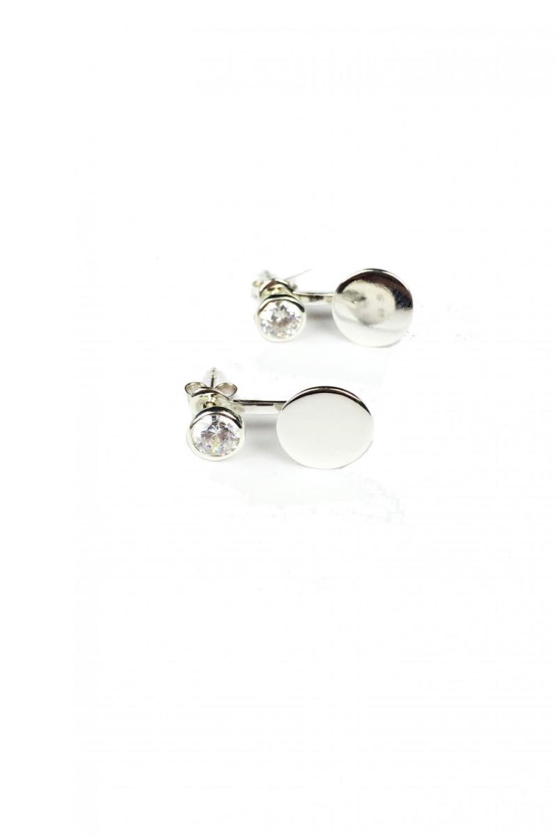 boucles d 39 oreilles piercing zirconium pois argent pretty wire. Black Bedroom Furniture Sets. Home Design Ideas