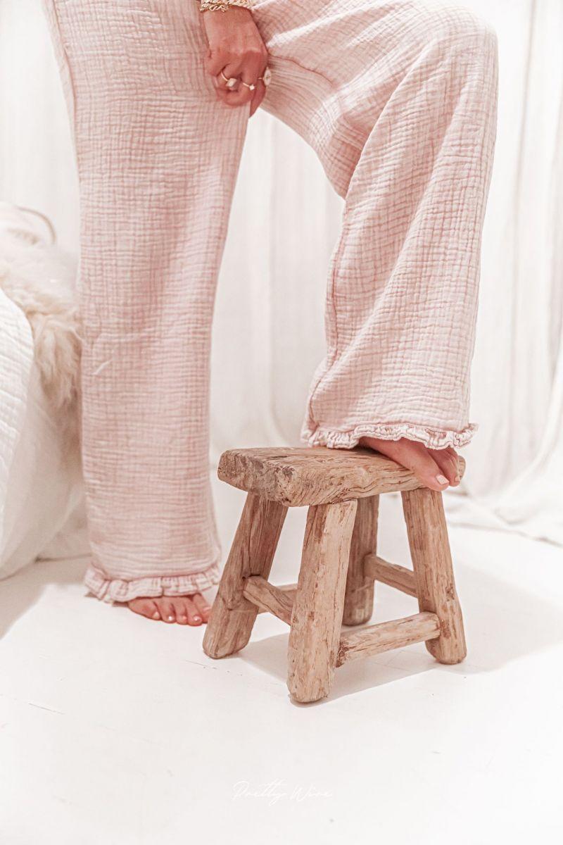MORPHEE Rose - Pyjama en gaze de coton