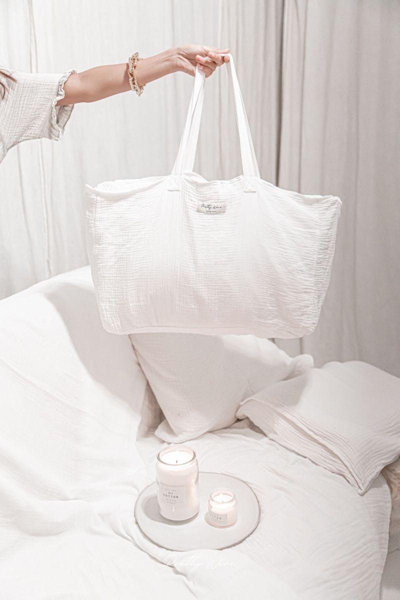 JADA Blanc - Cabas gaze de coton
