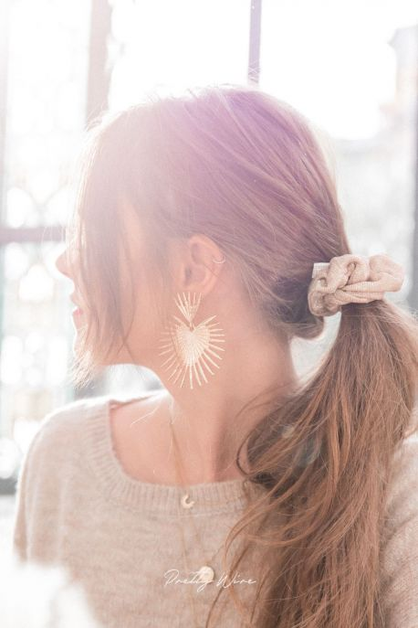 MAYA - Boucles d'oreilles dorées