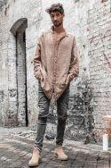 [Azarias] sable - Chemise en Gaze de Coton