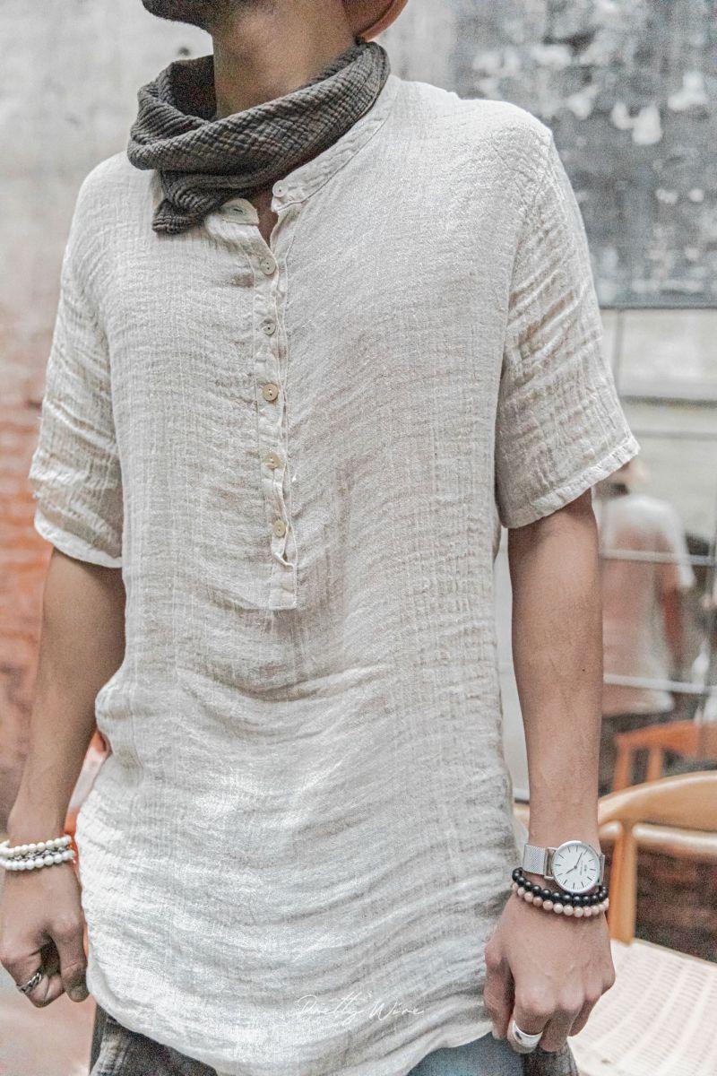 [Oris] Beige - T-Shirt en Lin