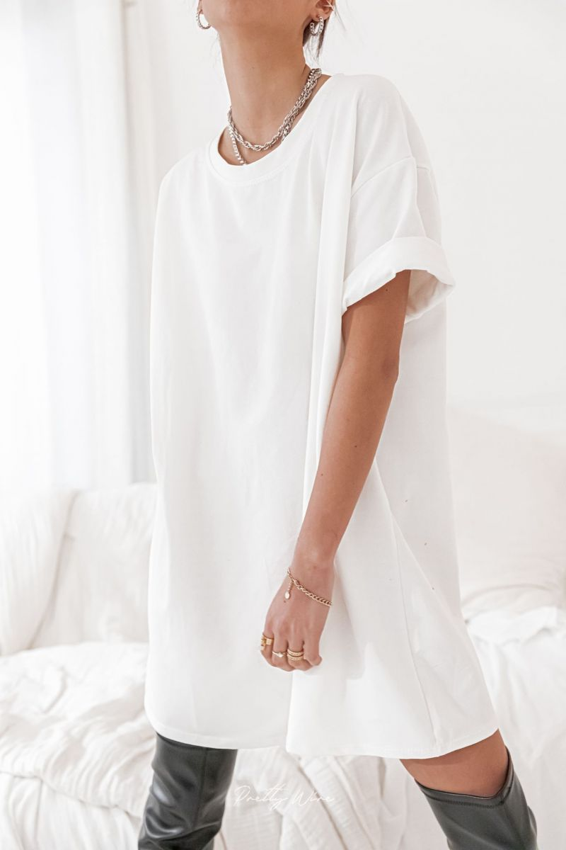 ORIGINE Blanche - Robe T-shirt