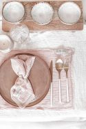 LILO Rose - Set de table en gaze de coton