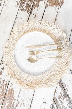 BESHIR Naturel - Set de table corde de papier 38cm