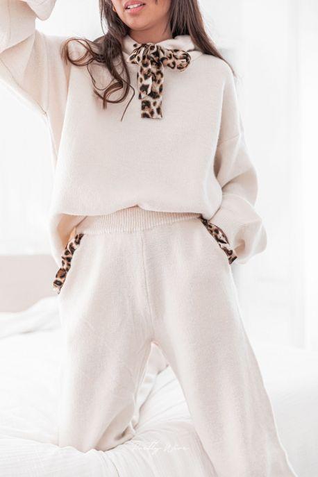 EMMA Crème - Ensemble maille en laine