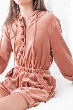 LUNA Terracotta - Combishort en velours