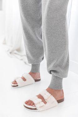 COCON Ecrues - Sandales fourrées