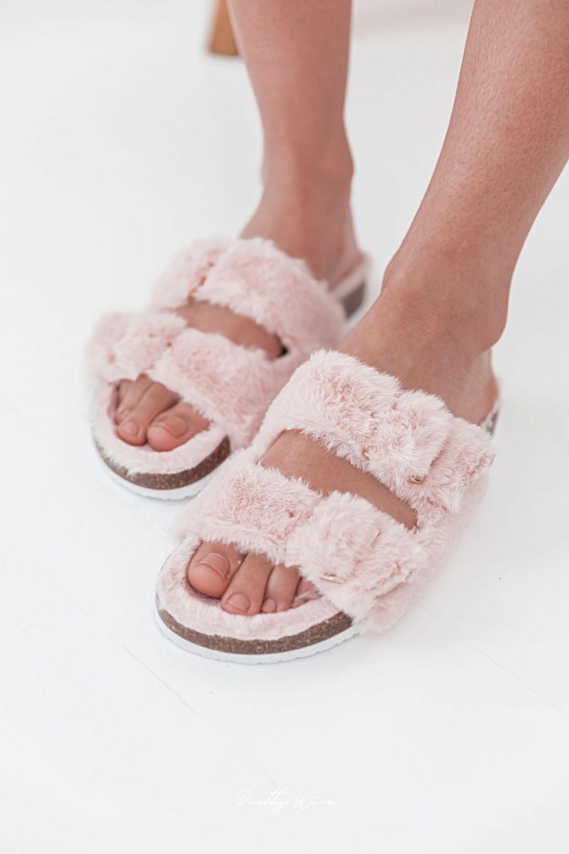 COCON Roses - Sandales fourrées