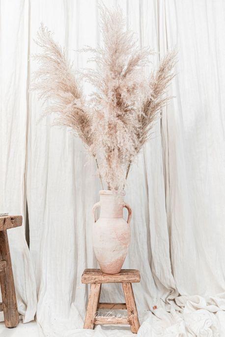 PAMPA XL Taupe - Bouquet de 3 tiges 90-110 cm