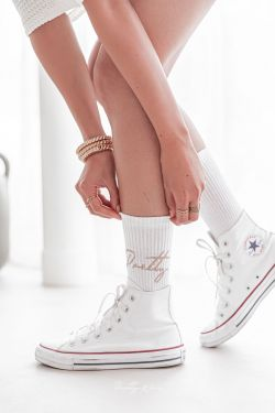 SOCKS Blanches - Chaussettes hautes