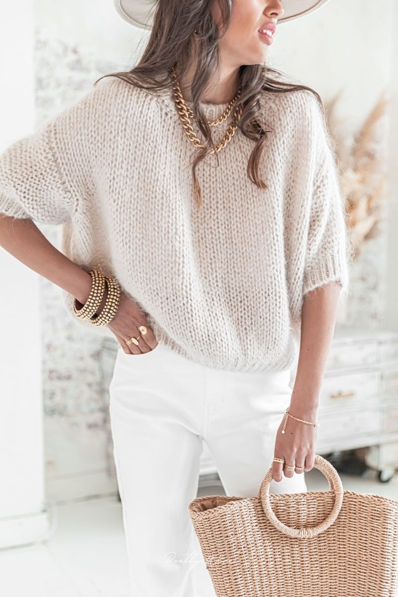 LUCE Beige - Maille Mohair