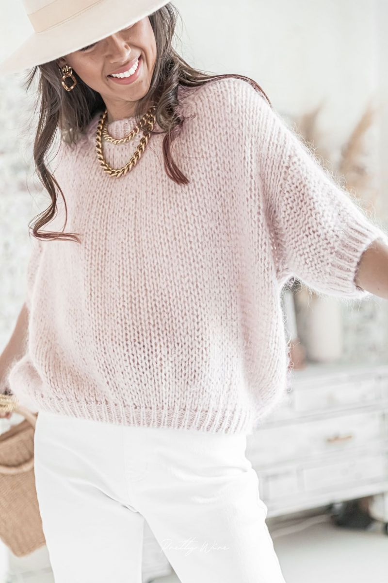LUCE Rose Nude - Maille Mohair