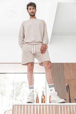 [Anil] Latté - Sweat-shirt éponge