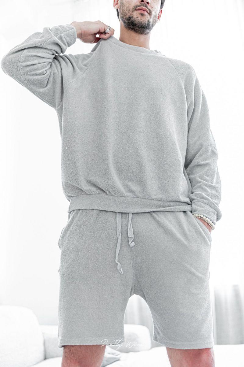 [Anil] Grigio - Sweat-shirt éponge