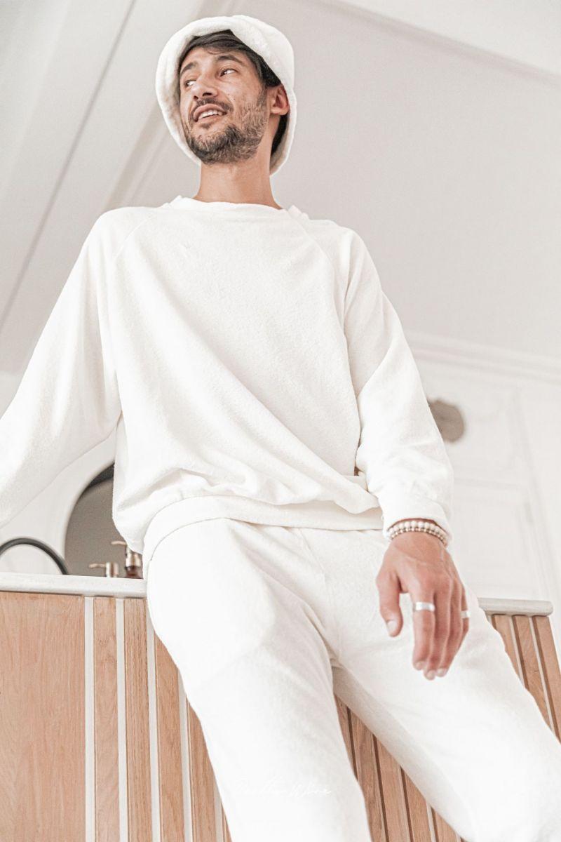[Anil] Milk - Sweat-shirt éponge