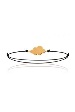 Bracelet cordon nuage plaqué or