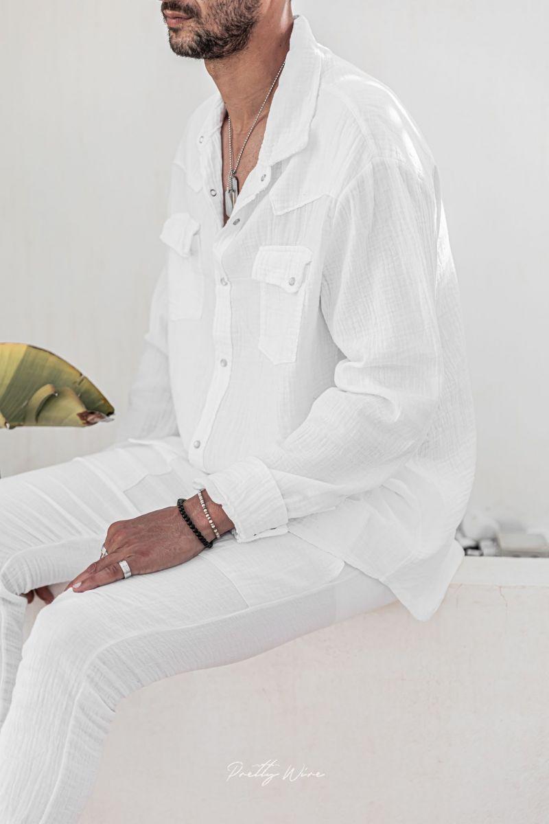 [Nomade] Blanche - Chemise Gaze de coton