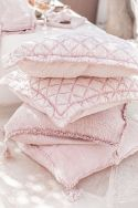 SABI Rose - Housse de coussin gaze de coton