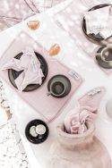 LILO Rose - Set de table en gaze de coton