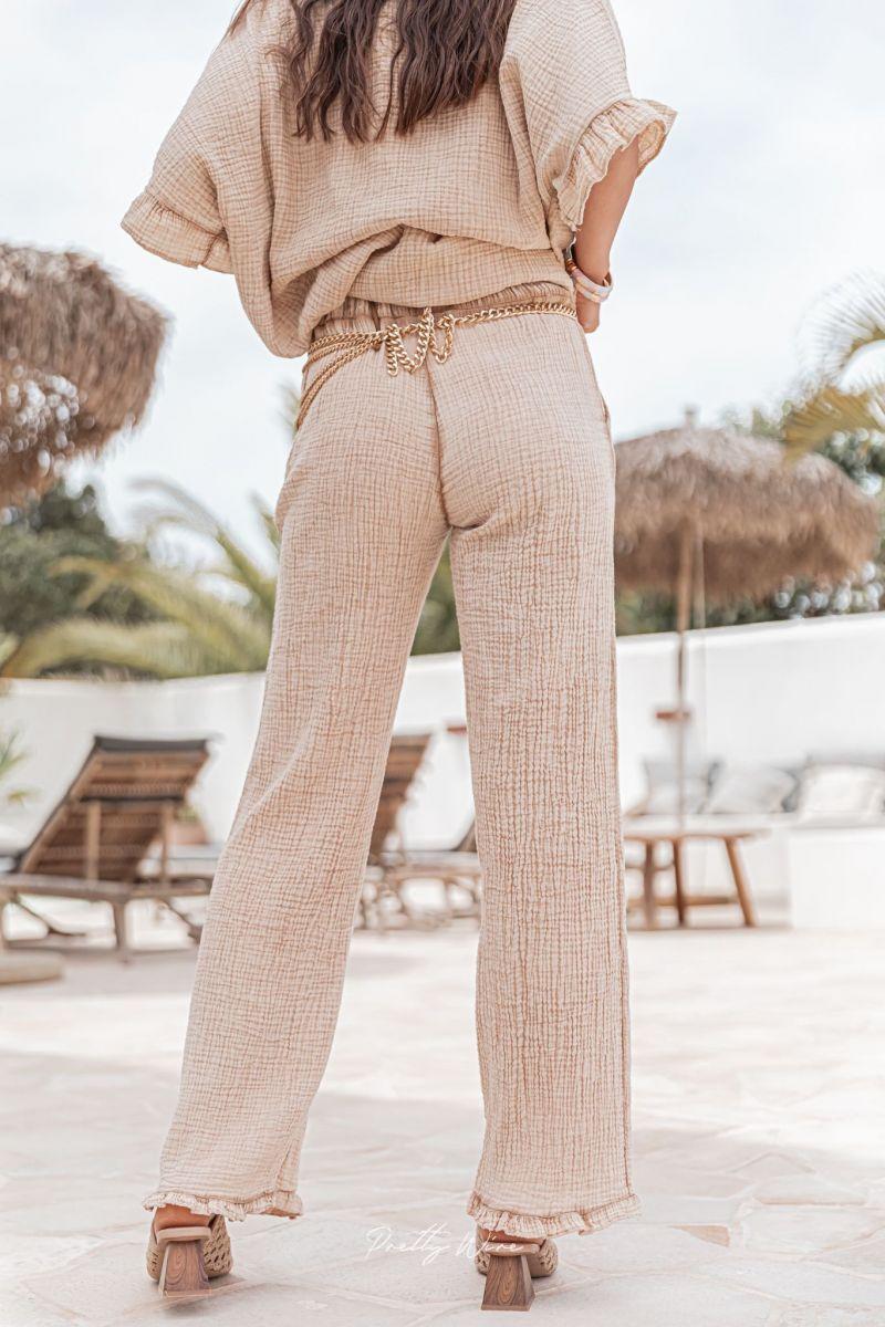 CLOUD Sable - Pantalon en gaze de coton