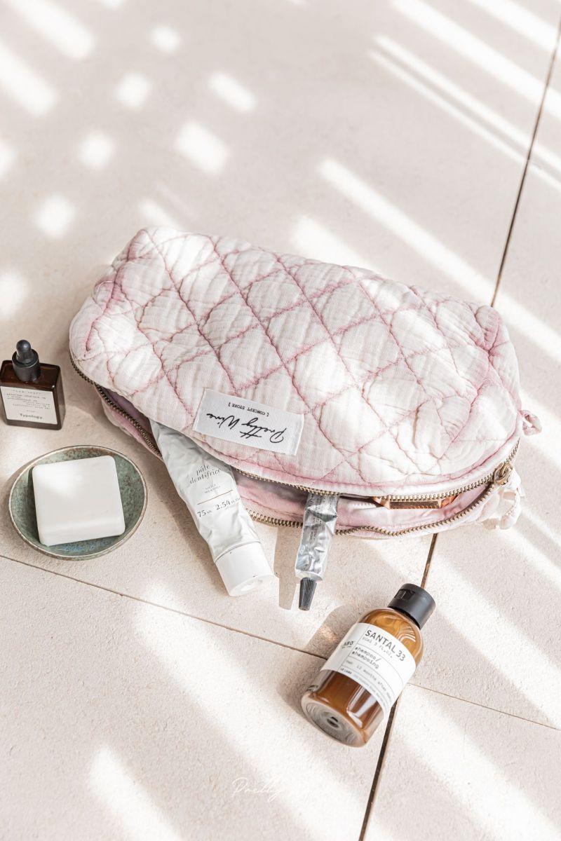 LOMA Rose - Trousse en gaze de coton