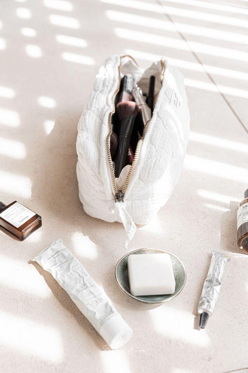 LOMA Blanche - Trousse en gaze de coton