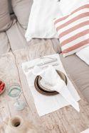 GAIA Blanche - Serviette de table en gaze de coton