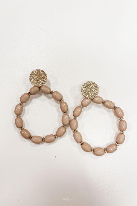 COLTON Taupe - Boucles d'oreilles acier