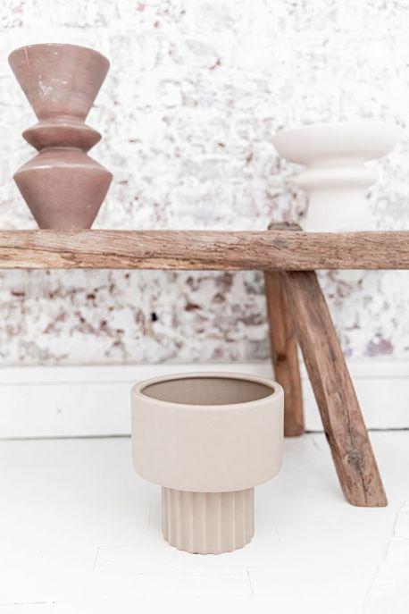 SKULL Taupe - Vase Céramique D.20xH.20cm