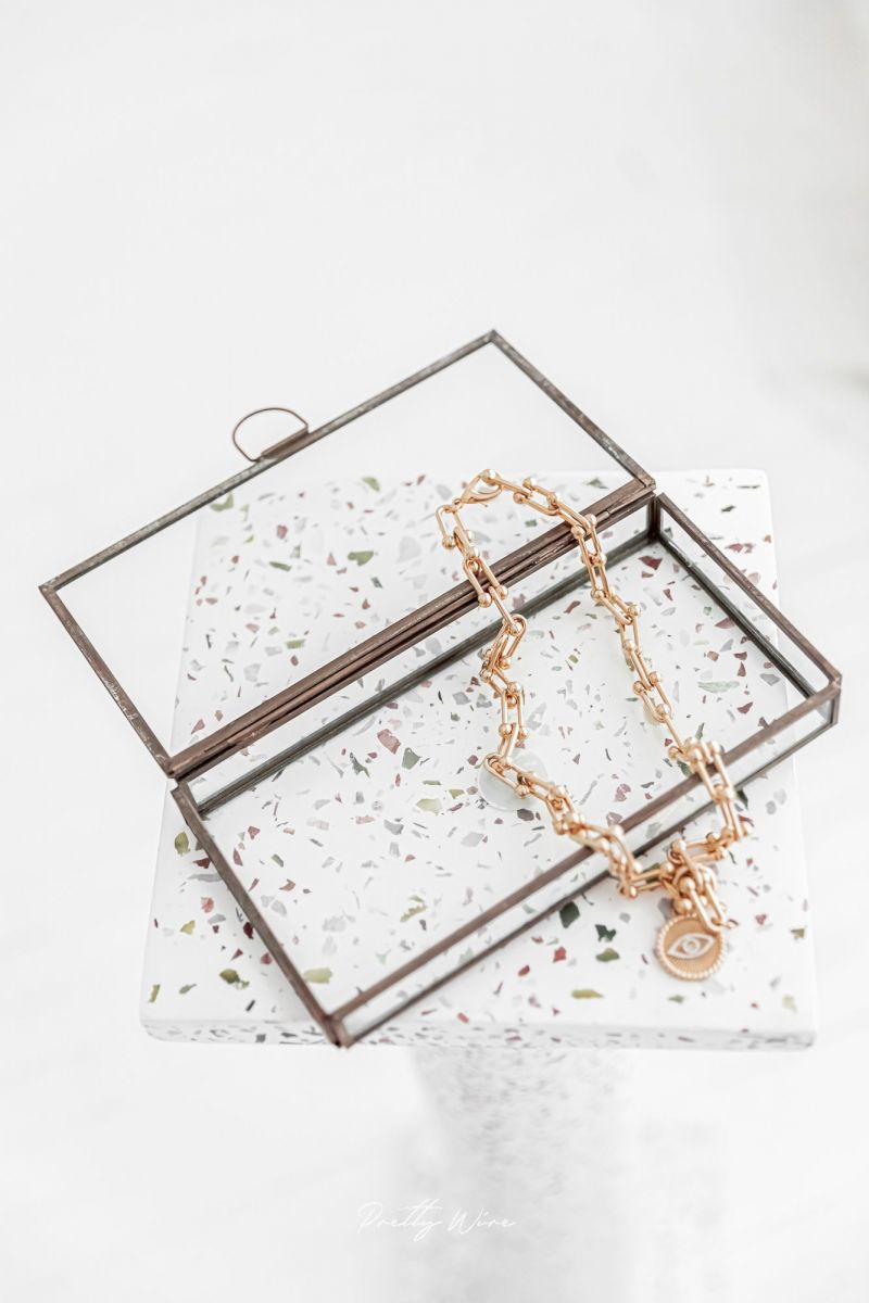 GLASSBOX métal vieilli - Vitrine rectangulaire