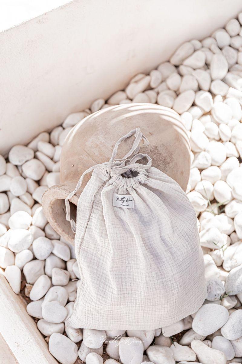 SONGE Taupe - Pyjama en gaze de coton