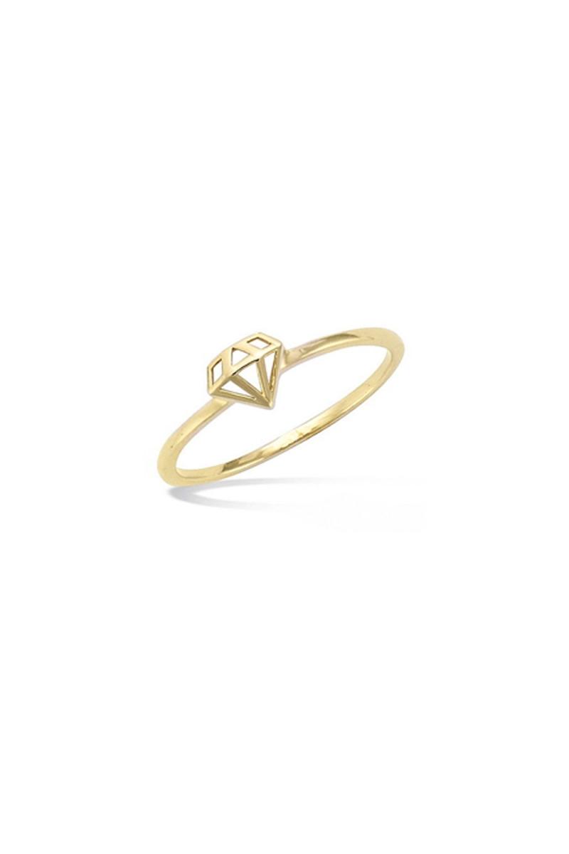 Bague Diamant plaqué or