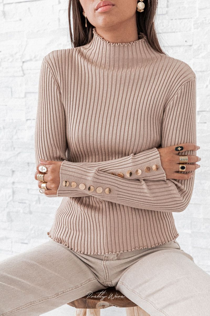 LOIS CAMEL- Maille Boutons