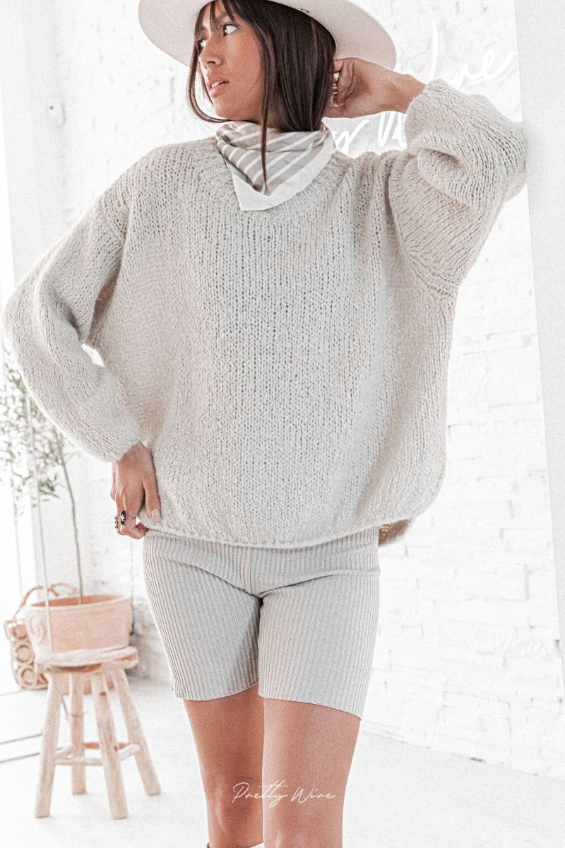 CESARIE Gris - Pull Maille