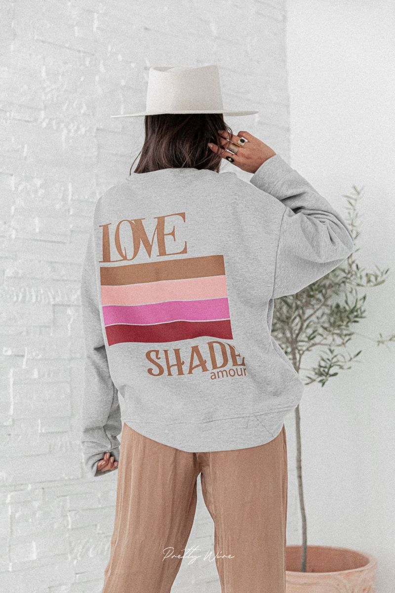SHADE OF LOVE Gris - Sweat Oversize