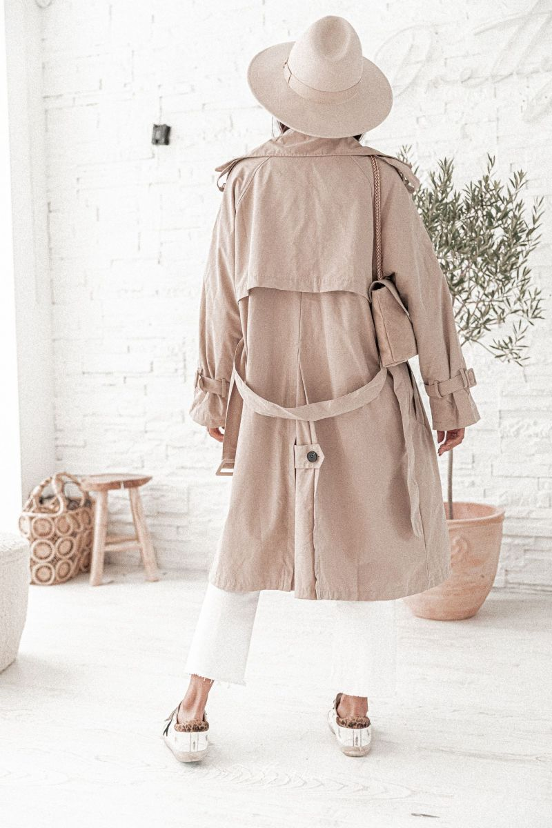 LISON Beige - Trench Oversize