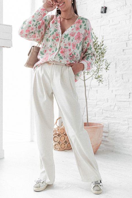 EVEN Beige - Pantalon large