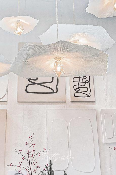 GRANDE FLEUR - Abat-jour pour suspension en papier mâché --