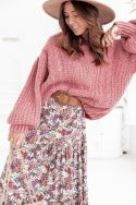 LEON Vieux Rose - Pull Maille