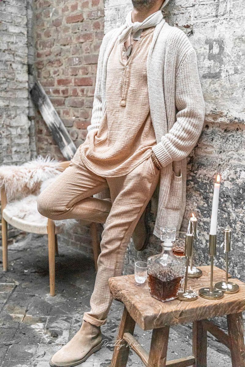 [Arlo] sable - Pantalon en Gaze de Coton
