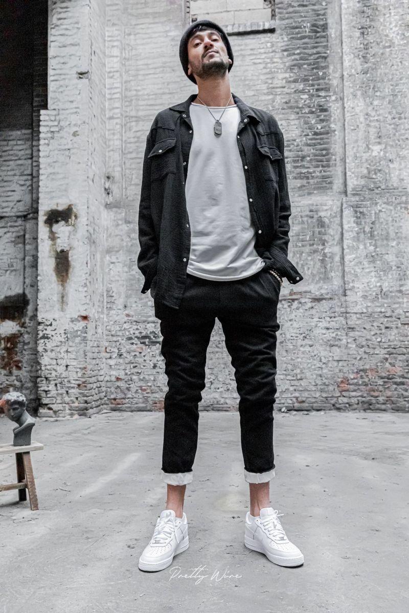 [Nomade] Noir - Chemise Gaze de coton