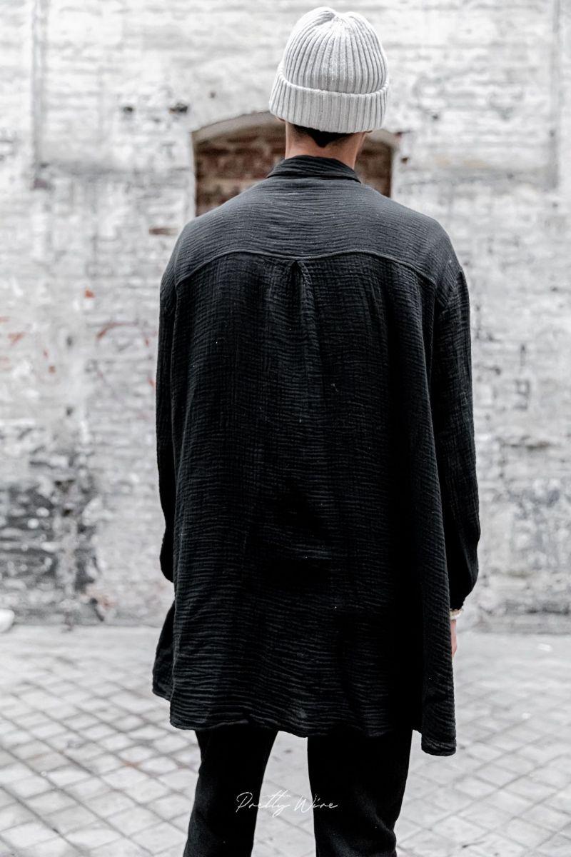 [Azarias] Noire - Chemise en Gaze de Coton