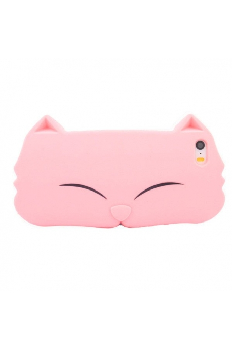 Coque tête de chat rose 5/5s/5c